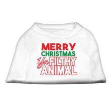 Ya Filthy Animal Dog Shirt - White