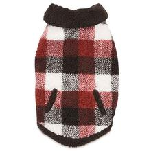 Zack and Zoey Berber Plaid Dog Vest - Orange