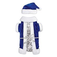 Zack and Zoey Blue Vintage Santa Dog Costume