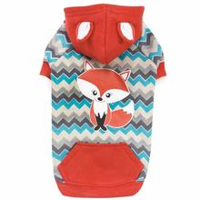 Zack and Zoey Chevron Fox Dog Hoodie