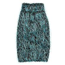 Zack and Zoey Elements Hairy Yarn Dog Sweater - Blue