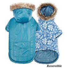 Zack and Zoey Elements Reversible Thermal Dog Parka - Blue