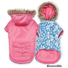 Zack and Zoey Elements Reversible Thermal Dog Parka - Pink