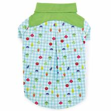 Zack and Zoey Happy Veggies Camp Dog Shirt - Green Trim