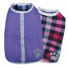 Zack and Zoey Nor'easter Dog Blanket Coat - Purple