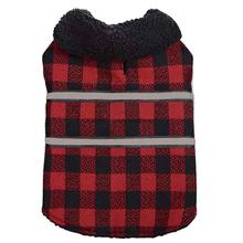 Zack and Zoey Plaid Reversible Thermal Blanket Dog Coat - Red