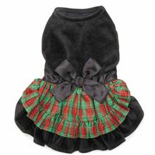 Zack and Zoey Radiant Tartan Velvet Dog Dress