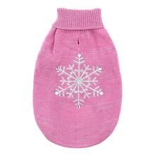 Zack and Zoey Shimmer Nights Snowflake Dog Sweater - Pink