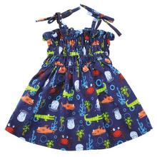 Zack and Zoey Under the Sea Ruched Dog Dress
