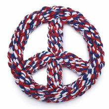 Zanies Americana Rope Peace Sign Dog Toy