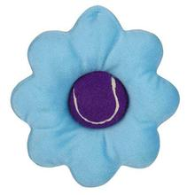 Zanies Blooming Brights Tennis Ball Flower Dog Toy - Turquoise