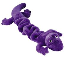 Zanies Bungee Geckos Dog Toy - Purple