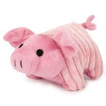 Zanies Corduroy Chum Dog Toy - Pink Pig