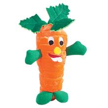 Zanies Giggling Veggie Dog Toy - Carrot
