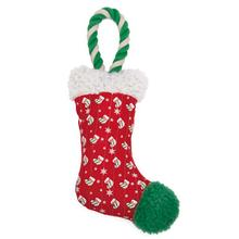 Zanies Holiday Stocking Tug Dog Toy - Red