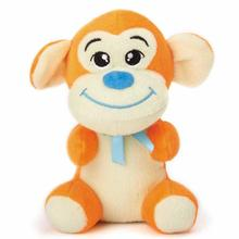 Zanies Honey Monkey Dog Toy - Orange