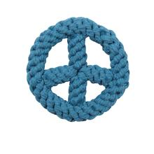 Zanies Peace Sign Rope Toy - Bluebird