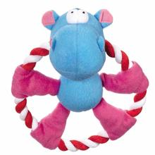 Zanies Rattling Rascal Dog Toy - Hippo