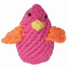 Zanies Rope Chick Dog Toy - Pink
