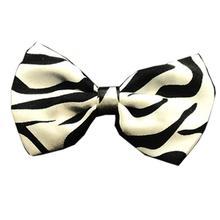 Zebra Dog Bow Tie