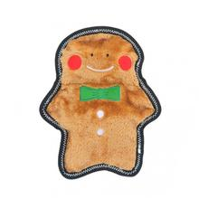 ZippyPaws Holiday Z-Stitch Dog Toy - Gingerbread Man