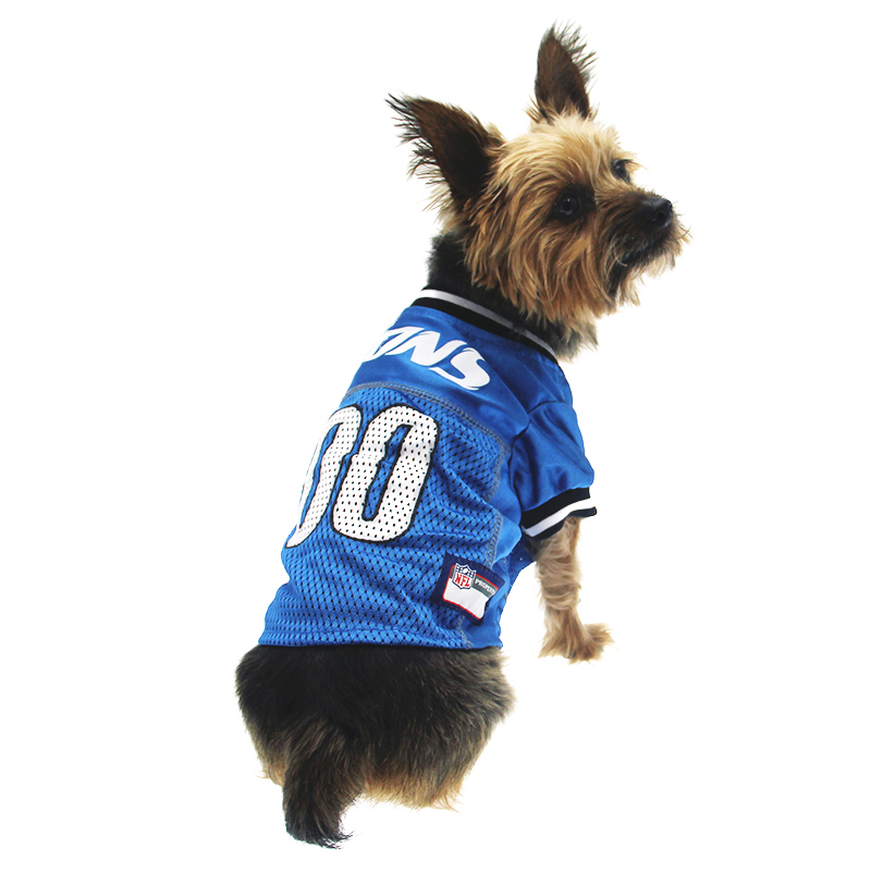 timeless design 212b7 f98ad Detroit Lions Officially Licensed Dog Jersey - Black and White Trim