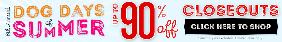up to 90% Off Closeouts!
