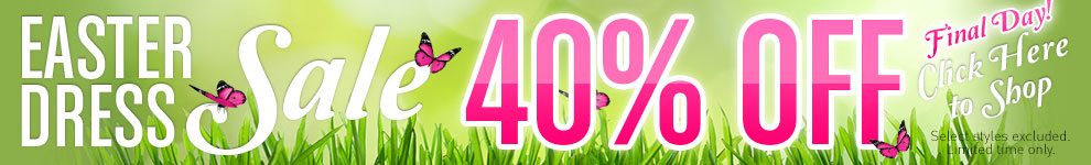 40% Off Easter Dresses!