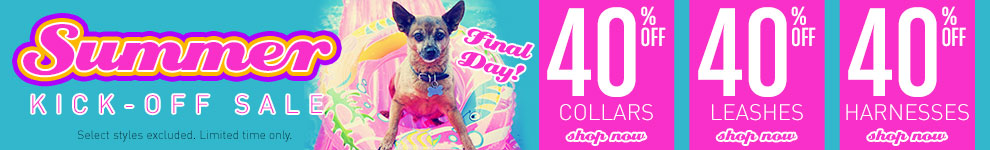 40% Off Collars, Leashes, Harnesses