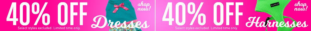40% Off Dresses & Harnesses