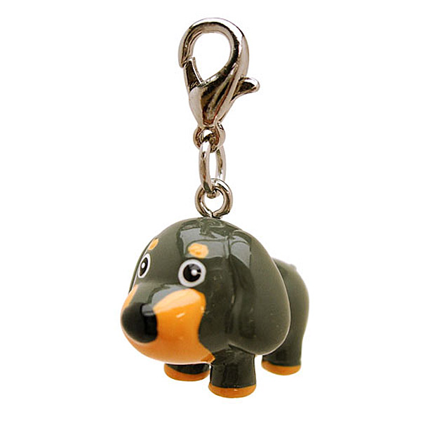 3-D Gray Long Ears Dog Collar Charm by Klippo