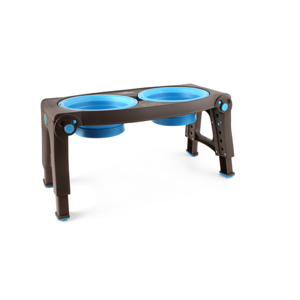 Adjustable Pet Feeder by Popware - Blue