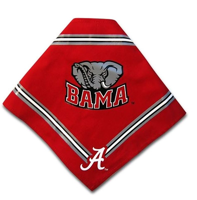 Alabama Crimson Tide Dog Bandana - Crimson