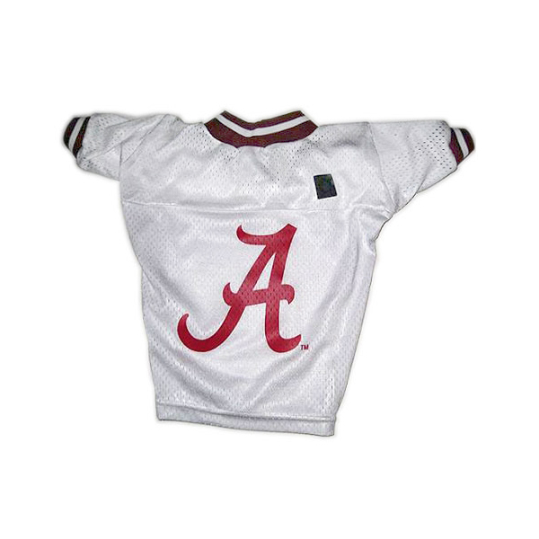 Alabama Crimson Tide Dog Jersey - White