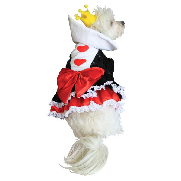 Alice in Wonderland's Queen of Hearts Halloween Dog Costume