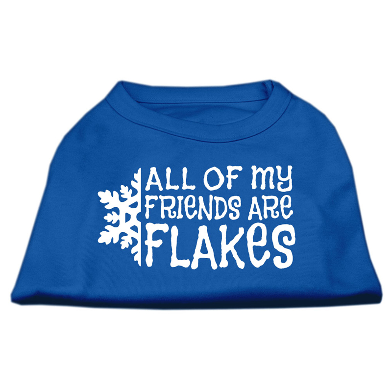 All My Friends are Flakes Dog T-Shirt - Blue