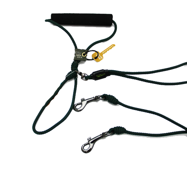 Alpine Two Dog Leash - Black