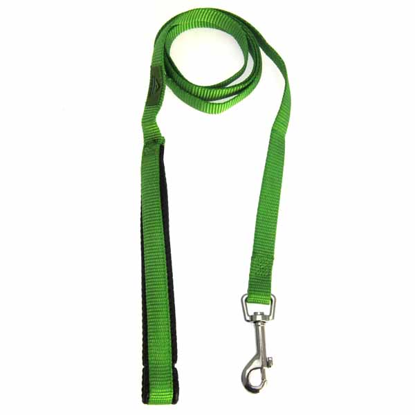 American River Cushion Grip Dog Leash - Green