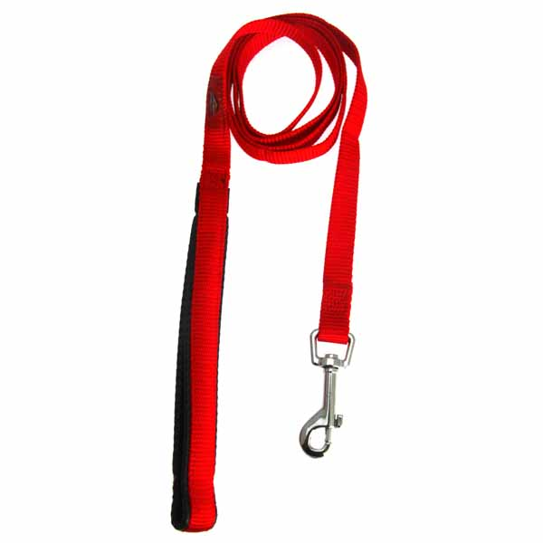 American River Cushion Grip Dog Leash - Red