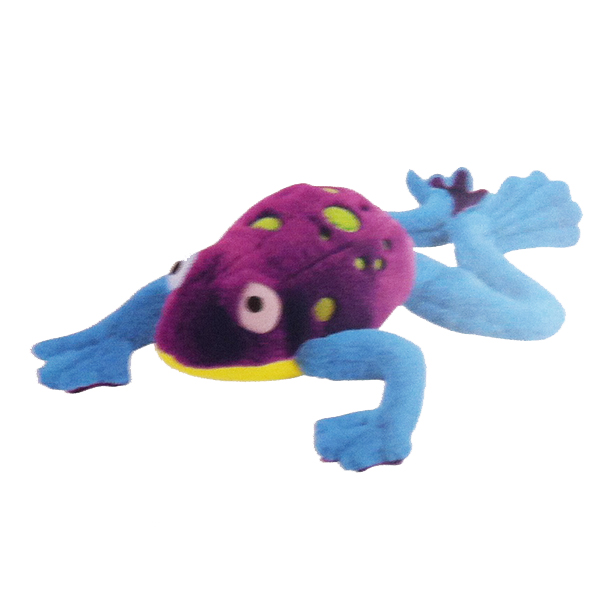 GoDog Amphibianz Tree Frog Dog Toy - Purple