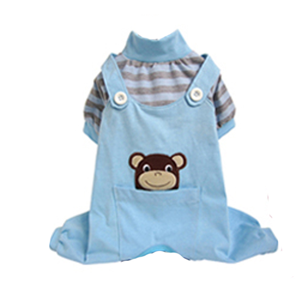 Animal Overalls Dog Pajamas - Monkey