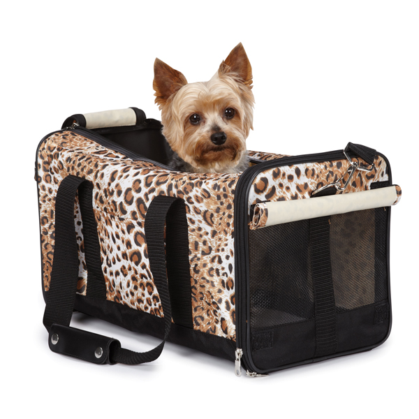 Animal Print Duffle Carrier by Casual Canine - Cheetah