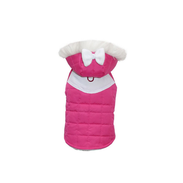 Annabelle Quilted Dog Parka - Pink