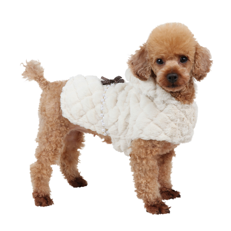 Arctic Cape Dog Coat by Pinkaholic - Ivory