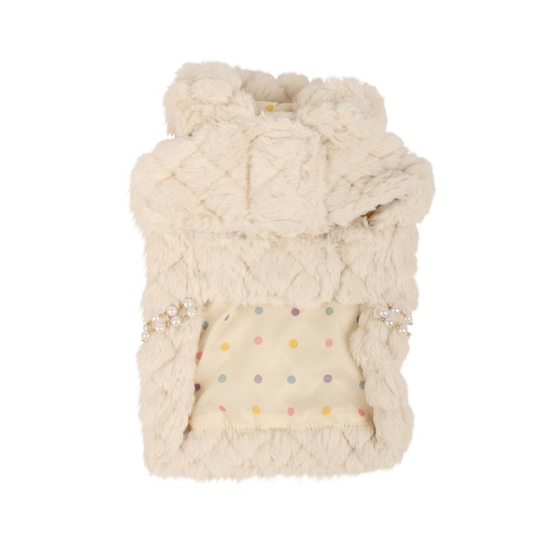 Arctic Cape Dog Coat by Pinkaholic - Ivory