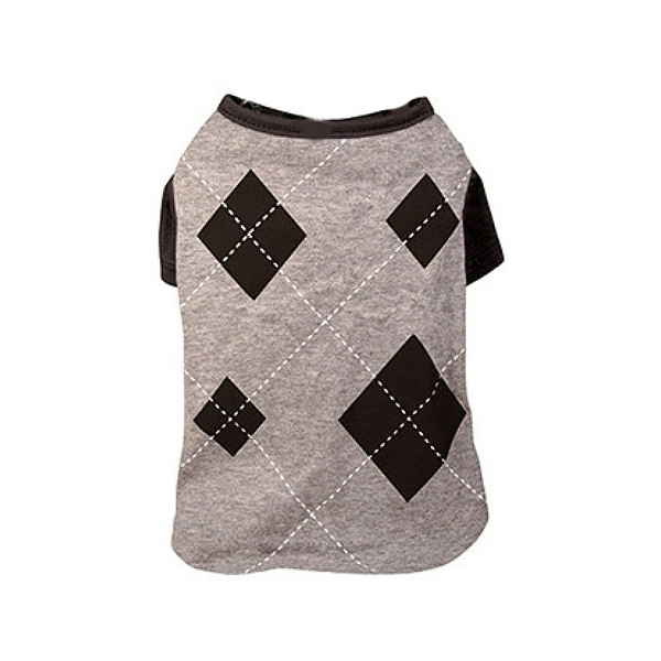 Argyle Dog T-Shirt - Charcoal
