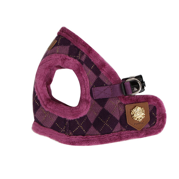 Argyle Mode Dog Harness Vest by Puppia - Purple