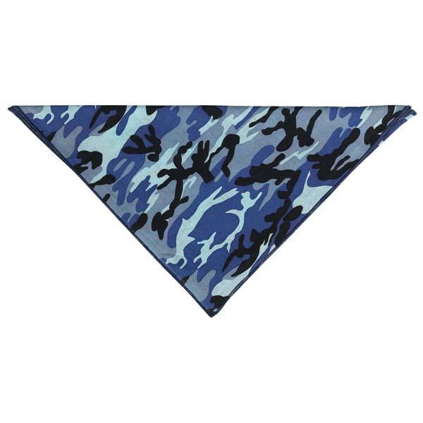 Aria Camouflage Dog Bandana - Blue