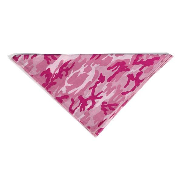 Aria Camouflage Dog Bandana - Pink