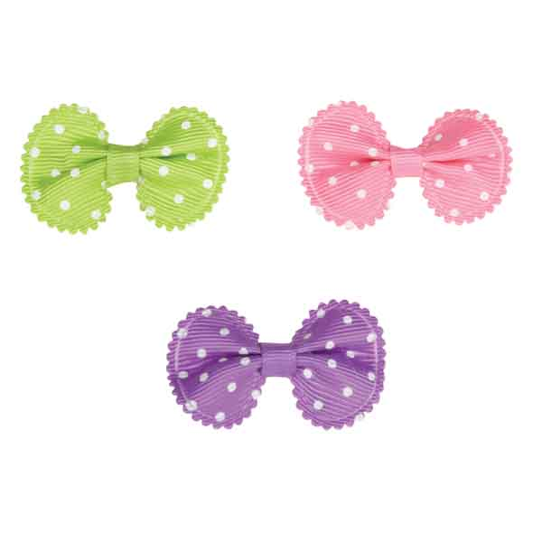 Aria Grosgrain Dot Dog Bows